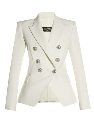 blazer wool white jacket