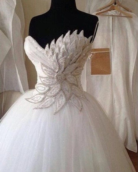 wedding clothes sparkly rhinestone beaded bride