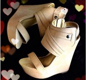 shoes,tan,nude,wedges,high heels,gold,zip,suede wedges,sexy,comfortable shoes,classy,chic,girly