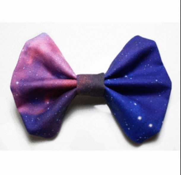 hair accessory galaxy print bows cute tumblr