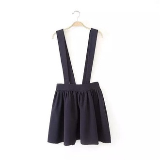 skirt charcoal suspender skirt skirt with suspenders elastic