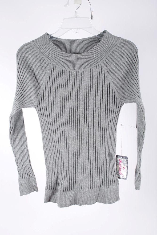 Grane Junior's Medium Heather Grey Sweater XL | eBay