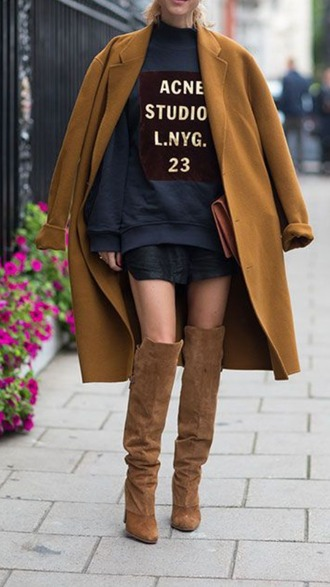 coat streetwear style boho? ny knee high socks rust acne studios