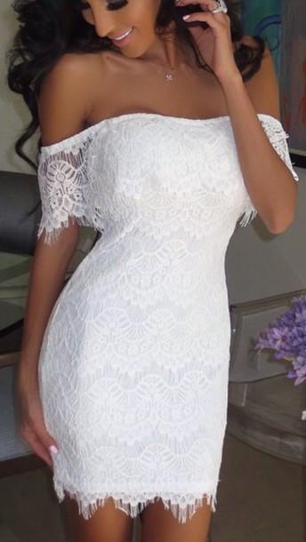 Sexy white lace dress ba721dd