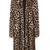 Brown Leopard Print Faux Fur Longline Coat - Sheinside.com