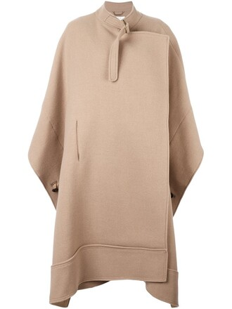 cape oversized nude top