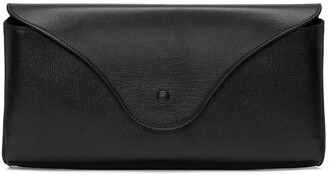oversized clutch leather black black leather bag