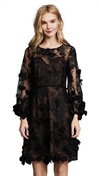 Marchesa Notte dress cocktail dress floral black