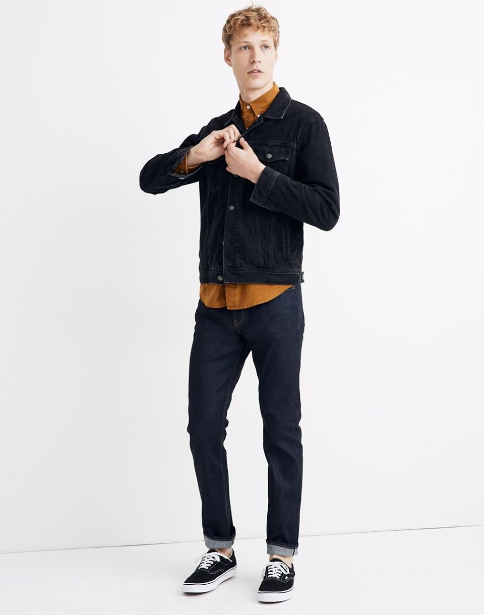 Men's Selvedge Slim Jeans in Resin Rinse