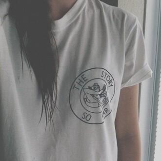 shirt band white black the story so far t-shirt women t shirts top tee storysofar girl women baggy loose