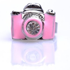 Amazon.com: Mcitymall Fashion Accessories Crystal Rabbit Bow or Vintage Camera Ring Jewelry Finger Ring (Pink, JZ32): Beauty