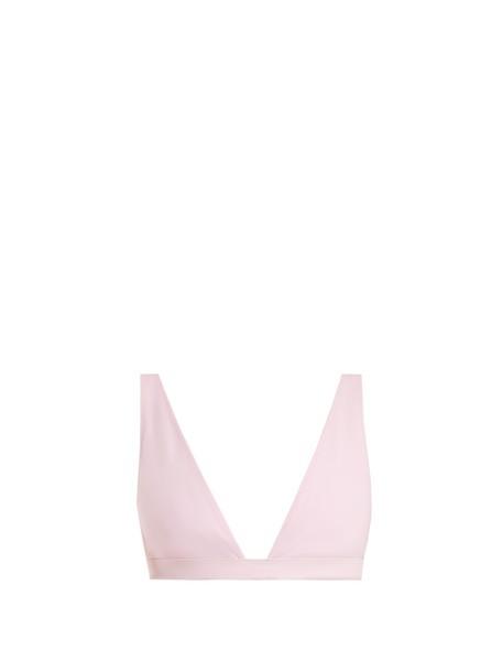 Rochelle Sara bikini bikini top triangle bikini triangle light pink light pink swimwear