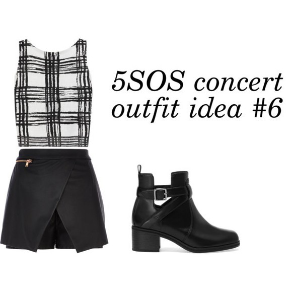 rock shoes biker boots 5sos concert style