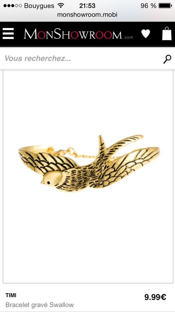 jewels gold bracelets gold bracelet birds cute cute jewels