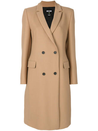 coat women spandex wool brown