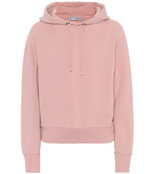 Vince hoodie cotton pink sweater