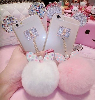 phone cover minnie mouse disney rhinestones pink iphone 6 case love