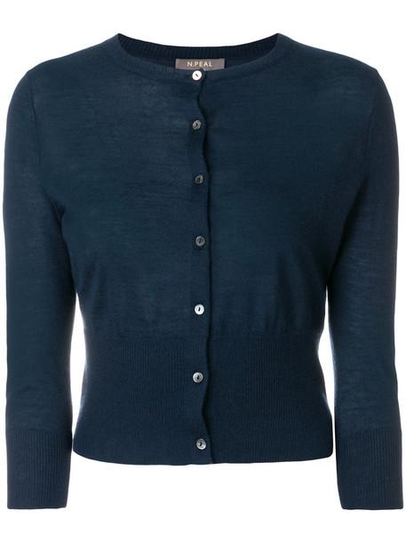 N.Peal cardigan cardigan cropped women blue sweater
