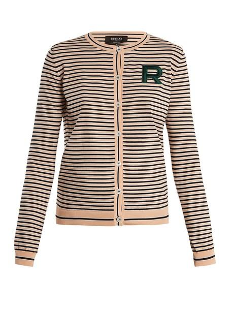 Rochas cardigan cardigan cotton beige sweater