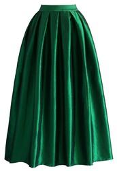 skirt,chicwish,la diva,pleated,maxi full skirt,green
