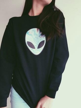 sweater alien