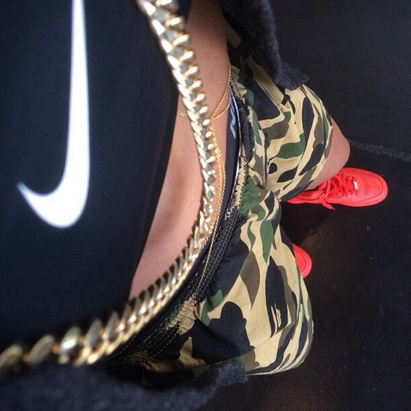 shorts camouflage shoes nike air force 1 nike shirt camo shorts nike air max 1 gold chain body chain nike shorts jacket