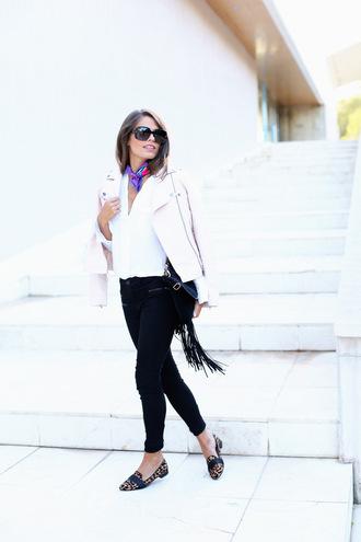 scarf jeans blogger bag sunglasses seams for a desire perfecto