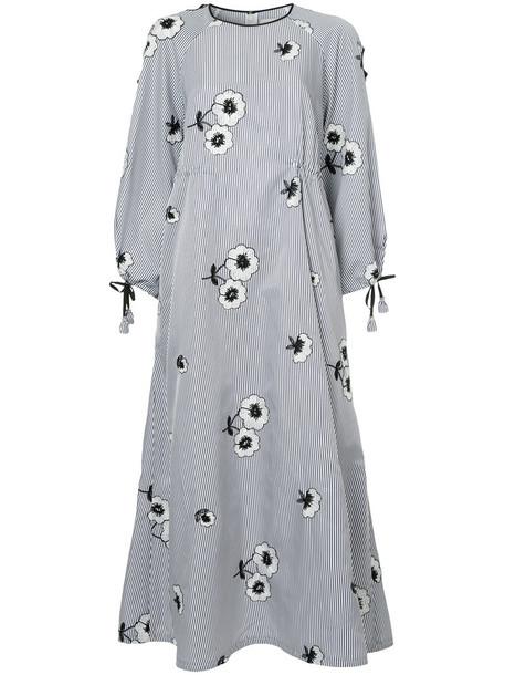 Huishan Zhang dress floral dress women floral blue