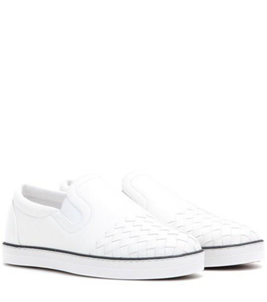 Bottega Veneta sneakers leather white shoes