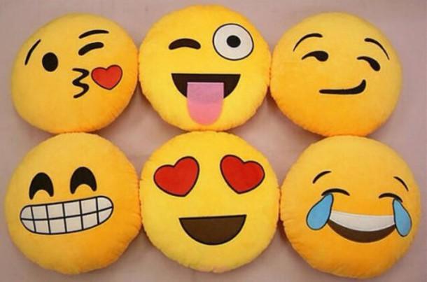 pajamas pillow emoji print