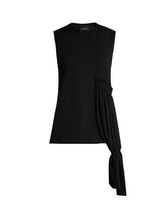 top sleeveless draped black