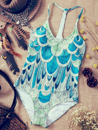 swimwear summer beach one piece swimsuit bikini pattern hot trendy zaful