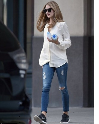 jeans olivia palermo shoes sunglasses