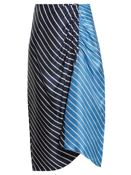 Tibi skirt midi skirt high midi blue