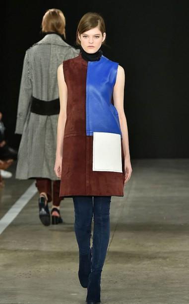 dress fall outfits fashion fashion week 2015 leather