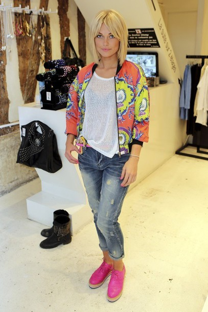 jacket caroline receveur top shoes jeans