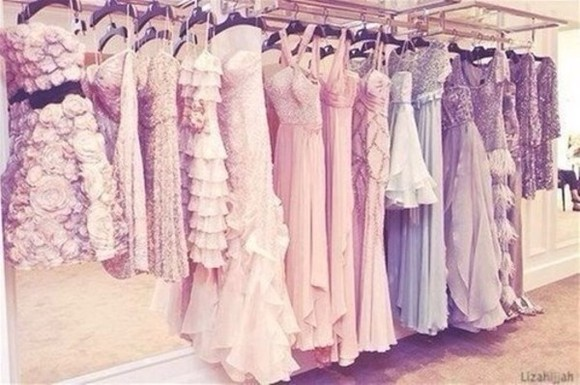 dress prom light pink light purple pastel dress