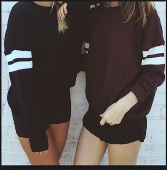 top black top maroon burgundy top jumper stripes
