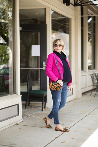 style archives - seersucker and saddles blogger jacket bag jewels shoulder bag animal print maternity blazer loafers fall outfits