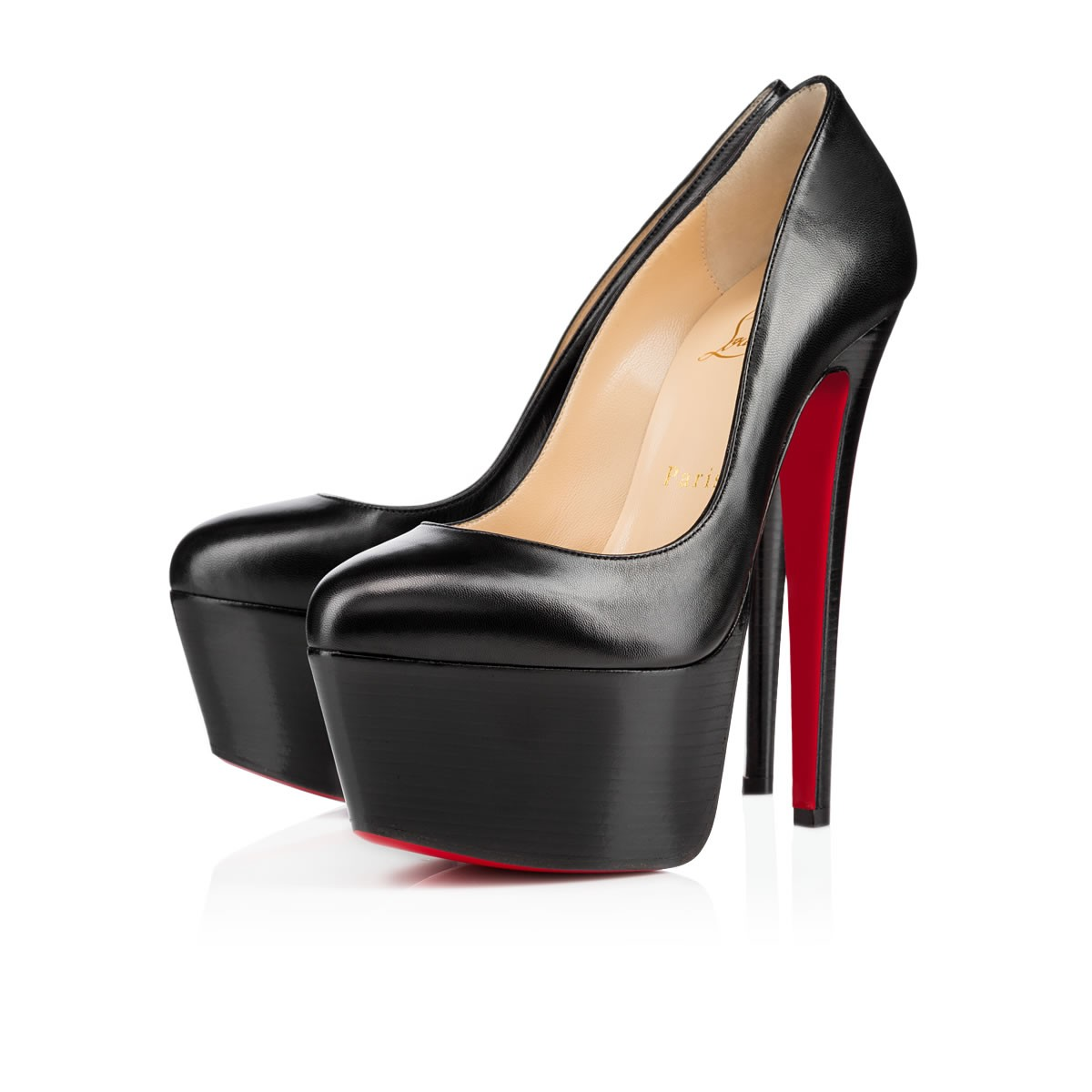 Victoria 160 Black Leather - Women Shoes - Christian Louboutin