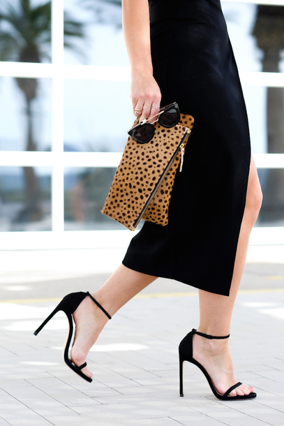 Black Shoes With Leopard Print