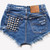 Jesse Studded Vintage Levis Shorts | RUNWAYDREAMZ