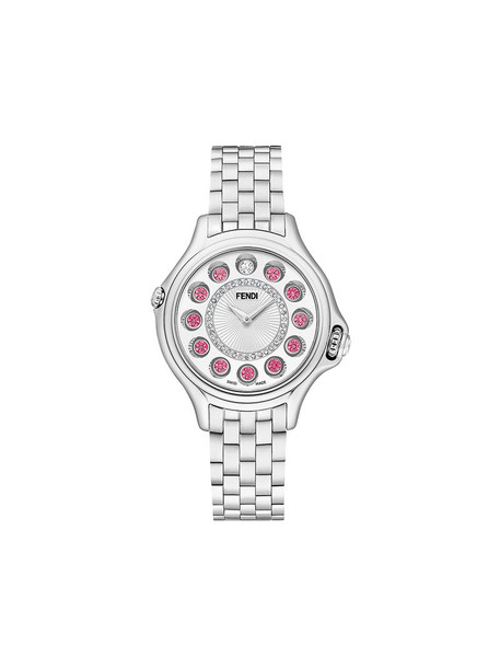Fendi metal women watch white jewels