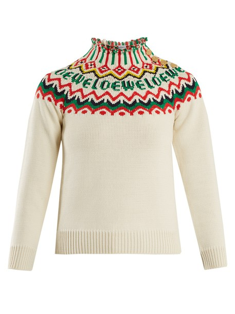 LOEWE sweater knit white