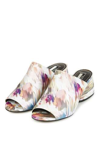 shoes mules slide shoes topshop heels