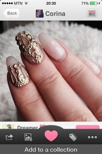 nail polish nail art nail tips gold tips perfect nails prom