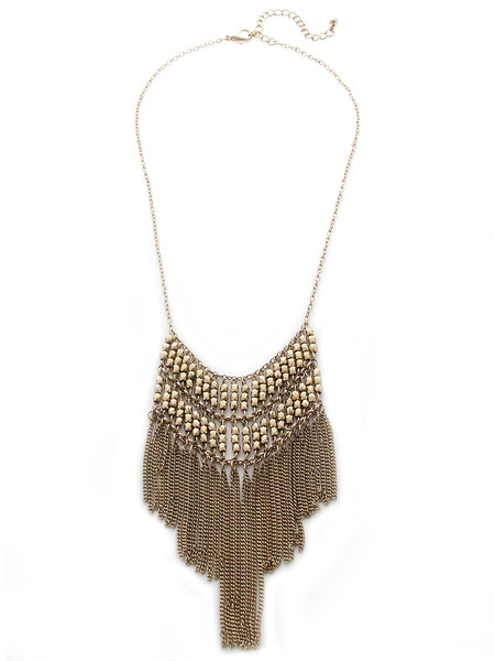 Elizabeth Crystal Necklace                           | olive   piper