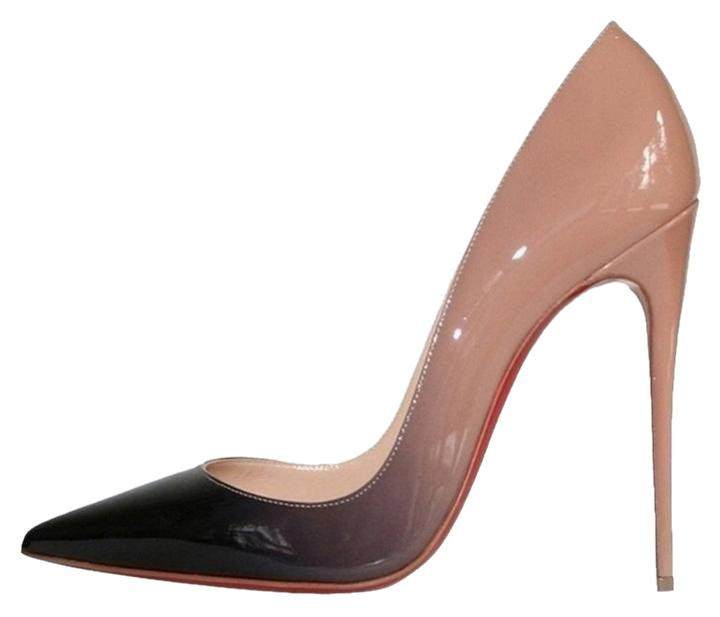 promo code 2a5bc 71508 Christian Louboutin So Kate 120 Degrade Ombre Black Patent Nude Pumps
