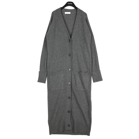 Long Buttoned Gray Cardigan