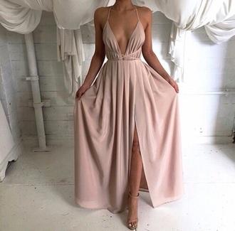 dress pink pink dress long long dress prom light pink dress prom dress